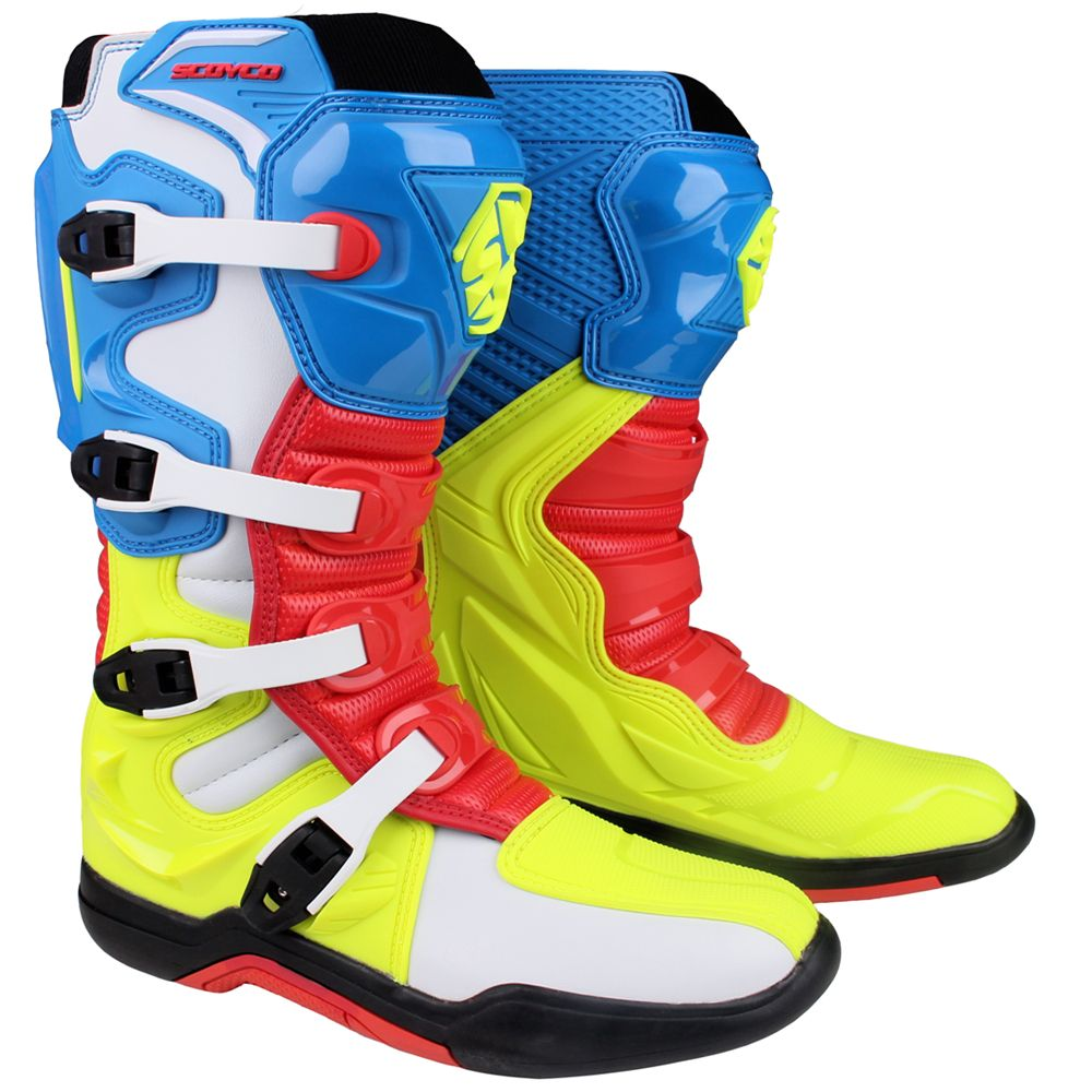 SCOYCO MBM003 Motorcycle Motocross ATV Boots Off-road Racing Men Shoes Moto Motorbike Long knee High top safety CE