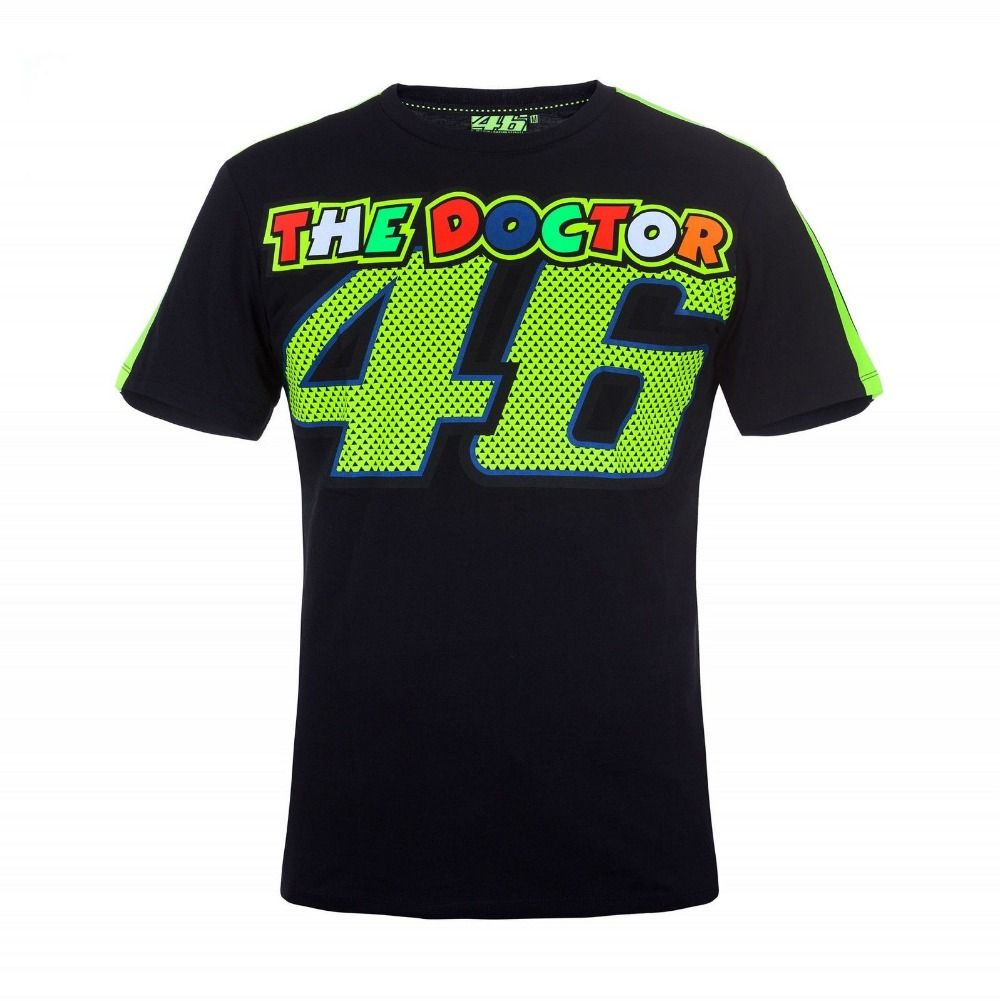 New Arrival 2017 Valentino Rossi 46 The Doctor Moto Gp T-Shirt Luna Rossi VR46 Sports Motorcycle Men's Tee