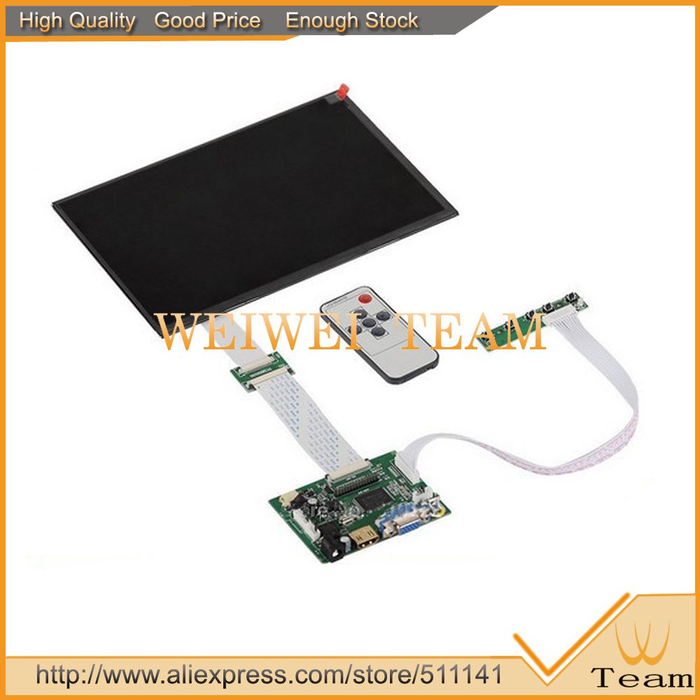 10.1 inch IPS for Raspberry Pi monitor 1280(RGB)*800 TFT EJ101IA-01G HD LCD With Remote Driver Board hdmi 2AV VGA for Banana pi