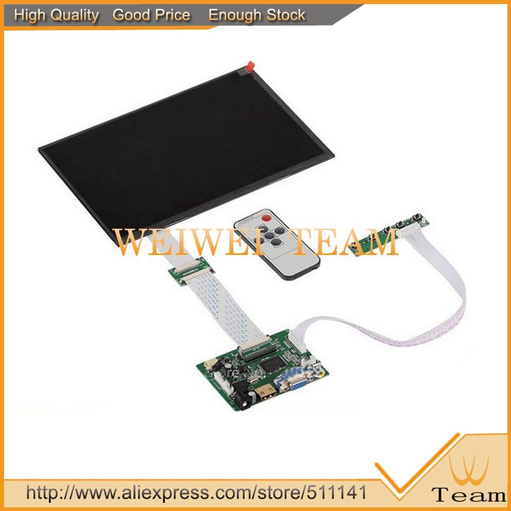 10.1 pouces IPS pour Raspberry Pi moniteur 1280 (RGB) * 800 TFT EJ101IA-01G HD LCD avec carte de pilote à distance hdmi 2AV VGA pour banane pi