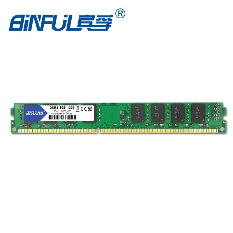 Binful 8GB 1333MHz PC3-10600 Desktop Memory RAM non-ECC System High Compatible 1.5v