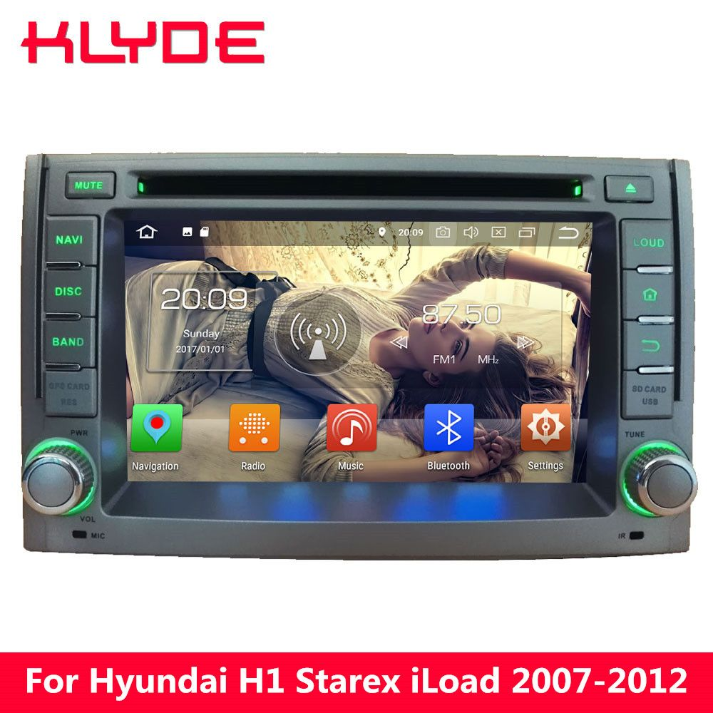 KLYDE 4G Octa Core PX5 Android 8.0 4GB RAM 32GB ROM Car DVD Player Radio For Hyundai H1 2007 2008 2009 2010 2011 2012 2013 2014