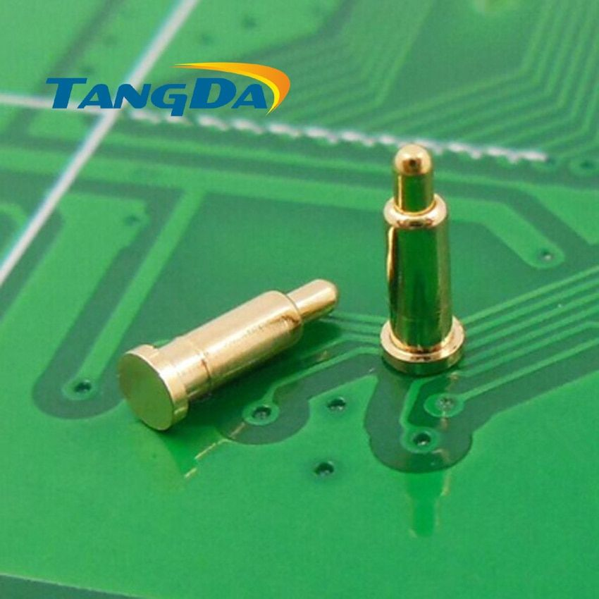 Tangda DHL/EMS D2*7mm 1000PCS pogo pin connector Mobiles Battery spring 1P Thimble Surface Mount SMD gold plate 1u