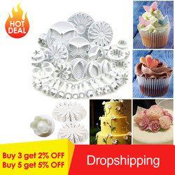 1/33 шт Украшение торта сахарата инструменты плунжеры для мастики инструменты для тортов печенье Форма для пирога, посуда для выпекания аксе...