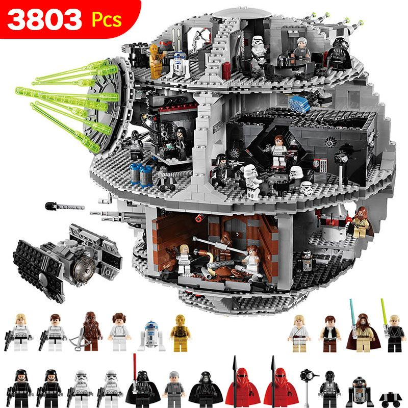 3803PCS Star UCS Death Star Set Wars Compatible LegoINGLYS StarWars Blocks For Toddlers Clever Blocks Construction Toys For Kids