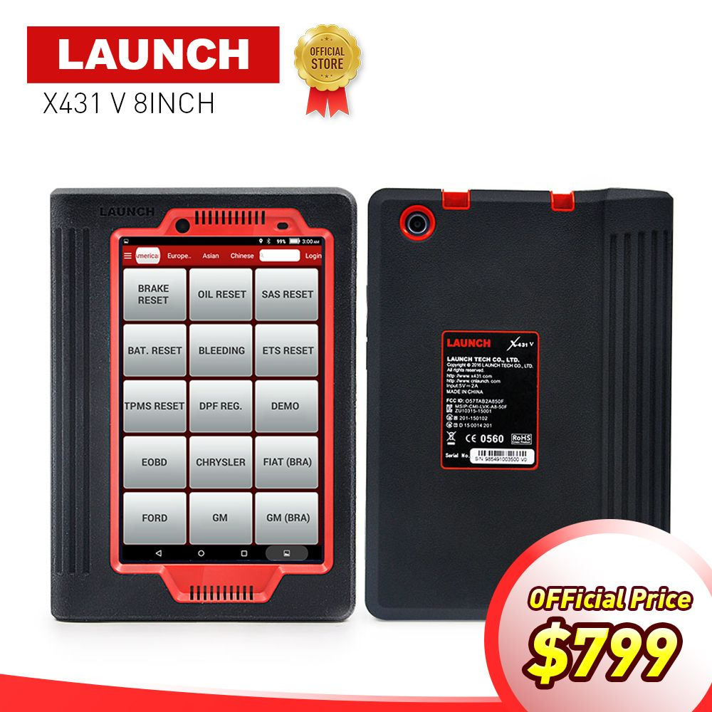 LAUNCH X431 V 8'' inch Global version auto Full system diagnostic Scanner 2 years free update X-431 V Bluetooth/Wifi scan tool