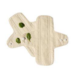 2 Pcs/lot Culotte Doublures D'hygiène féminine Lavable Réutilisable Menstruel Serviettes Hygiéniques En Tissu Coton Respirant Anti-allergie 18.5 Cm