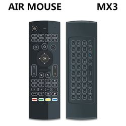MX3 MX3-L Backlit Air Mouse T3 Smart Remote Control 2.4G RF Wireless Keyboard For X96 tx3 mini A95X H96 pro Android TV Box