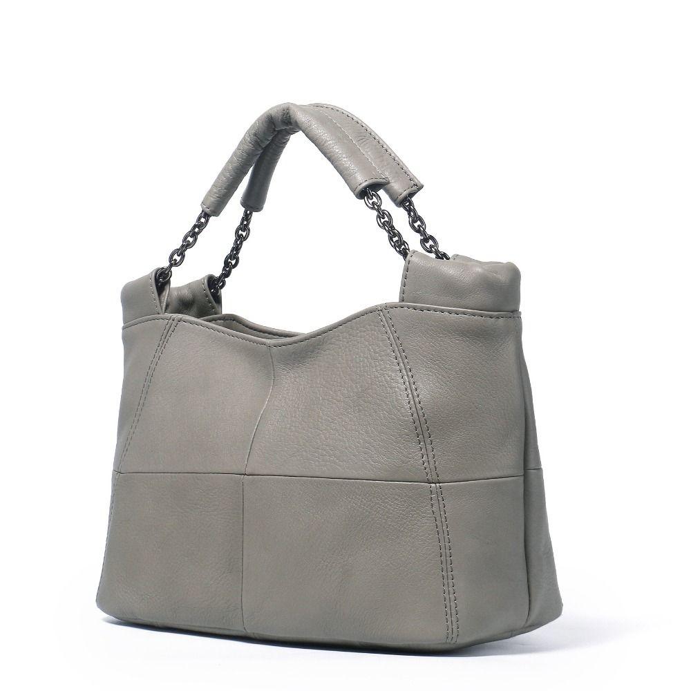 ICEV 2018 nouveau décontracté femme en cuir véritable sacs à main femmes marques célèbres Designer femmes Messenger sac froncé Bolsos