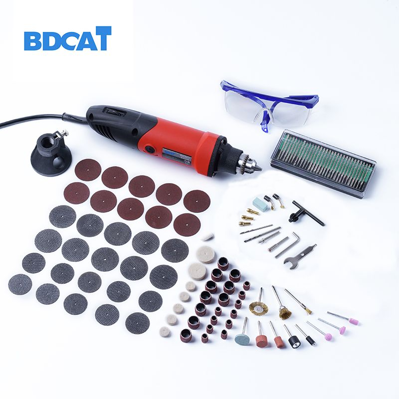 bdcat 400W mini drill engraver Rotary tools Electric Mini <font><b>Angle</b></font> Grinder Dremel Tool with 0.6-6.5mm flexible shaft