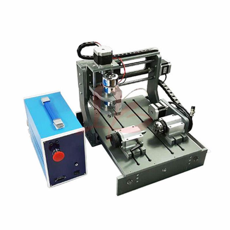 CNC Router 3020 4 achse PCB Fräsmaschine Holz Carving mit 300 watt spindel usb port