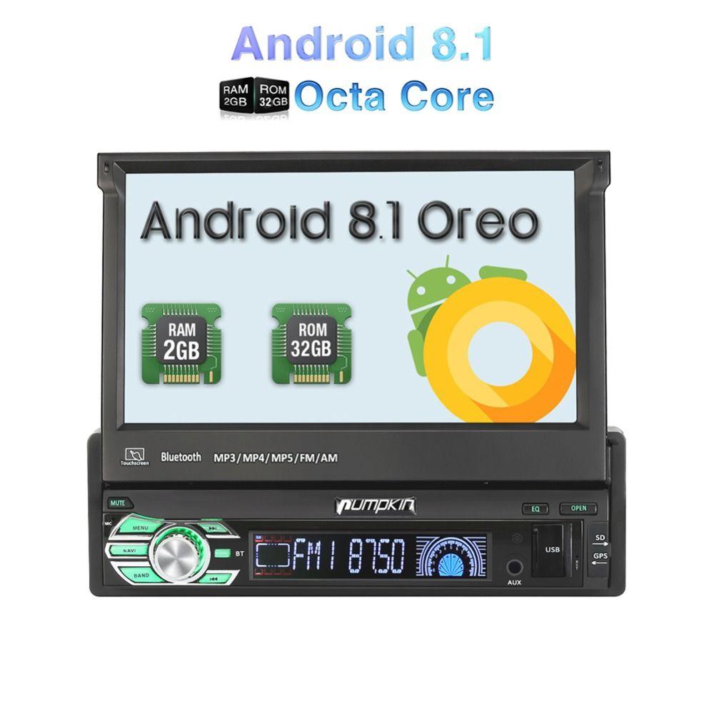 Kürbis 1 Din 7 ''Android 8.1 Auto Radio Keine DVD-Player GPS Navigation Octa Core Auto Stereo 2 GB RAM FM Rds Wifi 3G DAB + Steuergerät