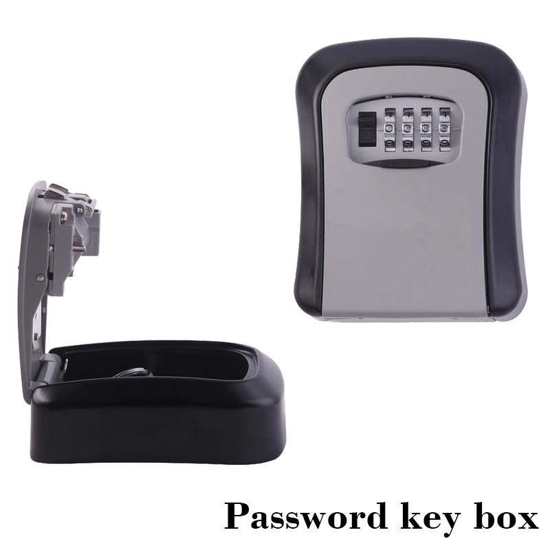 Serrure de porte de sécurité sûre d'organisateur de boîte secrète de stockage de clé de bâti de mur avec le mot de passe de combinaison de 4 chiffres en alliage de Zinc caja fuerte