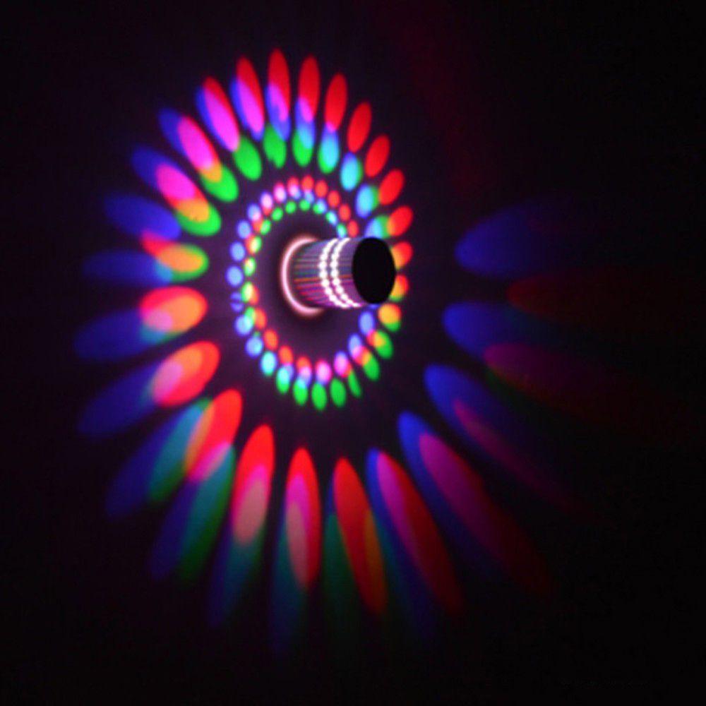 110 V/220 V 3 W Colro Led Moderne Mur Spirale De Lumière lumière LED Mur effet Lampes Pour KTV/Bar/Décoration/Salon DA