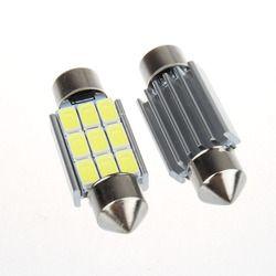 Super brillante 9 LED 5630 5730 SMD Festoon C5W CANBUS del coche Auto Dome puerta placa de matrícula bombilla 12 V 36/39/42mm