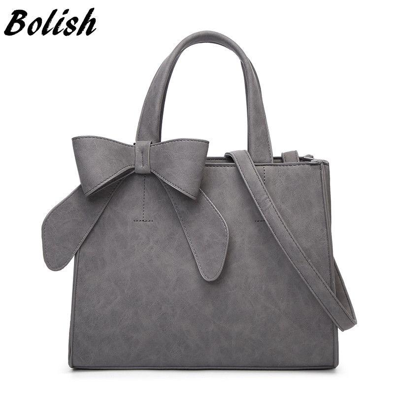 Bolish Drop shipping Vintage Shoulder Bag Female Causal handbag Lady Daily Shopping Crossbody Bag Bolsa Feminina De Marca Famosa