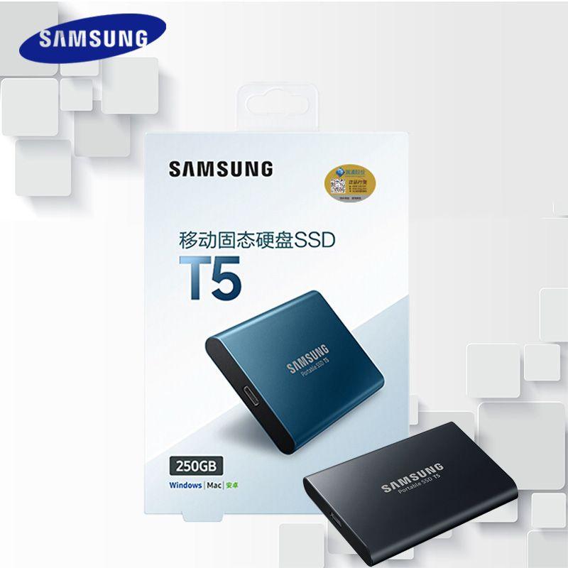 Samsung T5 Externe SSD 2 t 1 t 500 gb 250 gb Externe Solid State HD Festplatte USB 3.1 Gen2 (10 gbps) und rückwärts kompatibel Telefon