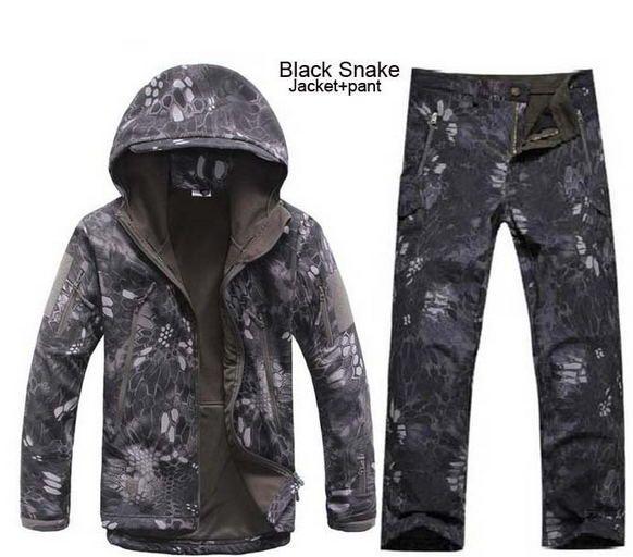Camouflage Jagd Kleidung Shark Haut Soft Shell Lurker Tad V 4,0 Außen Taktische Militärische Fleece Jacke + Uniform Hosen Anzüge