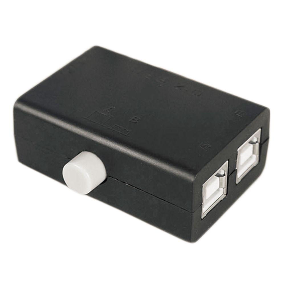 Heiße Hohe Qualität Neue USB-Sharing Teilen Switch Box Hub 2 Ports PC Computer Scanner Drucker Manuelle Heiße Förderung Großhandel
