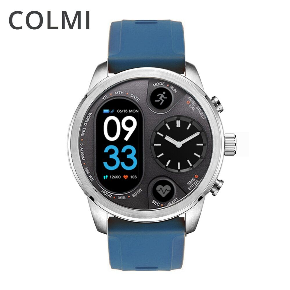 COLMI Smart Watch <font><b>Blood</b></font> Pressure Heart Rate Monitor Pedometer Waterproof Men Sport Bracelet for iphone Android