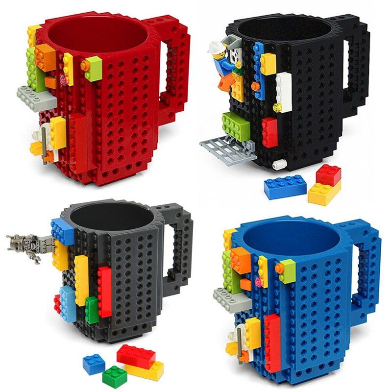 Tasse à café 350ml tasse à café créative tasse à briques à construire porte-eau potable pour blocs de construction conception tasse de cadeau de noël