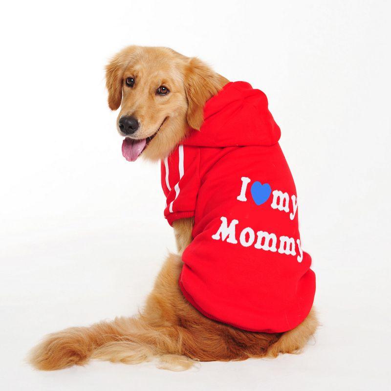 Liebe Mama Papa XXXL Labrador Hund Kleidung Große Große Mode Winter Herbst Herbst Hoodie Haustier Katze Jacken Mantel Für Tier produkte