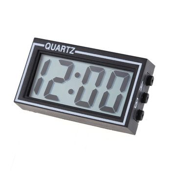 Mini Lighted Digital Car Clock Auto Car Truck Dashboard Date Time Calendar Black High Quality Vehicle Electronic Digital Clock