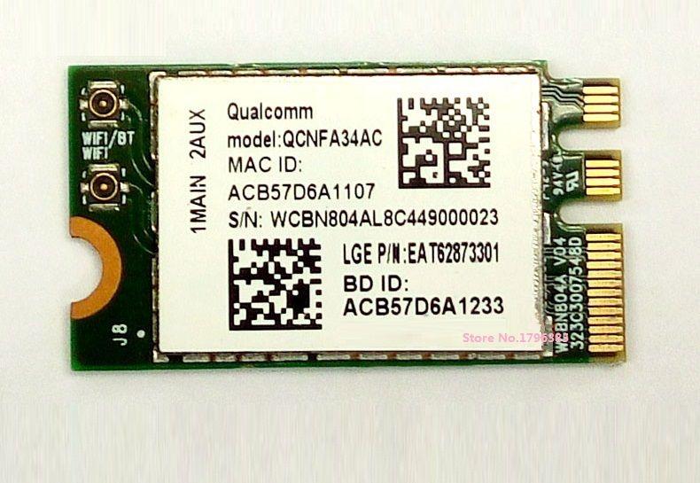 SSEA Nouveau Gros pour Atheros QCNFA34AC 802.11AC NGFF M.2 Sans Fil WiFi Bluetooth 4.0 carte Double Bande 2.4 ghz/5 ghz 433 Mbps