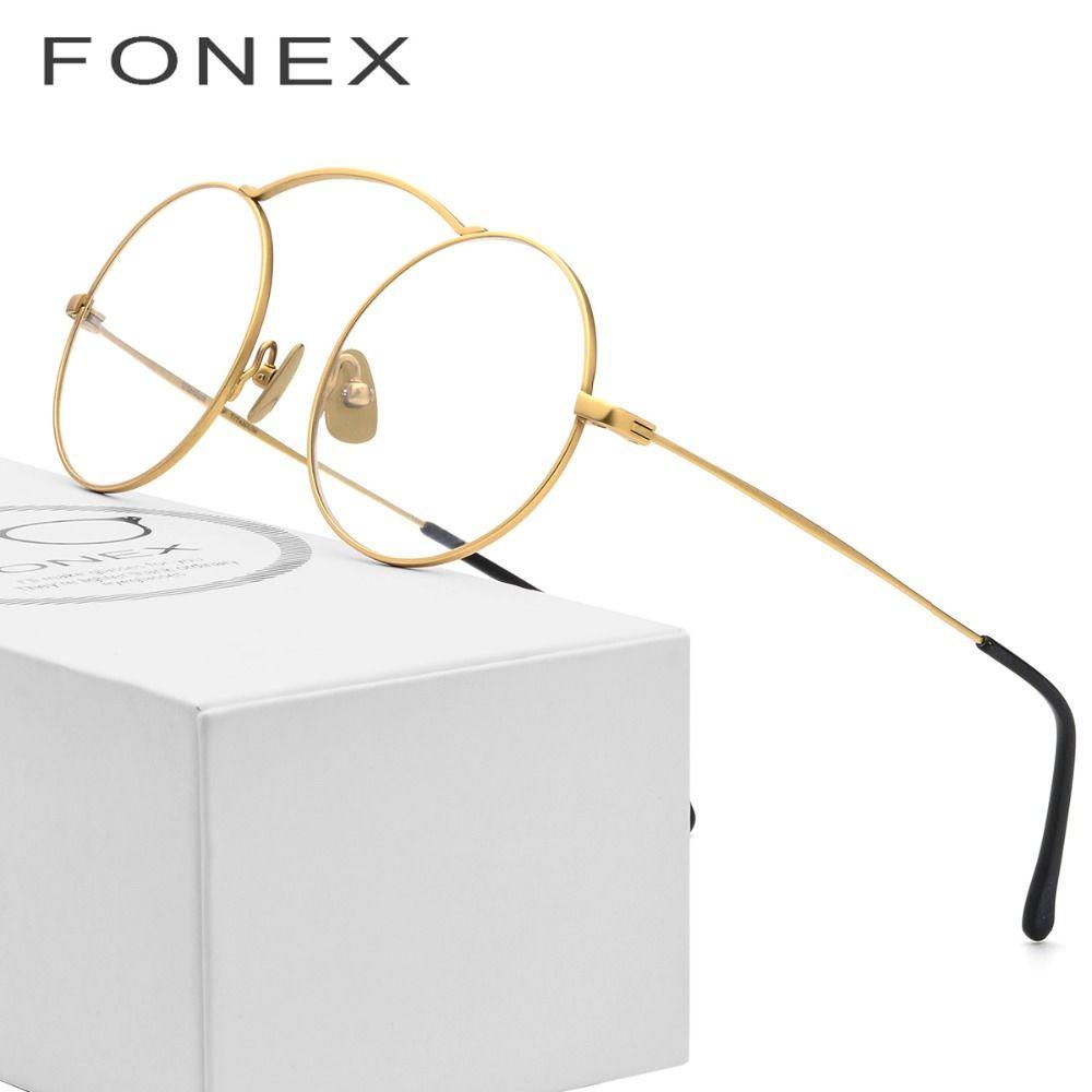 B Pure Titanium Classes Frame Men Ultralight High Quality Round Prescription Eyeglasses Myopia Optical Frames Women USA Eyewear