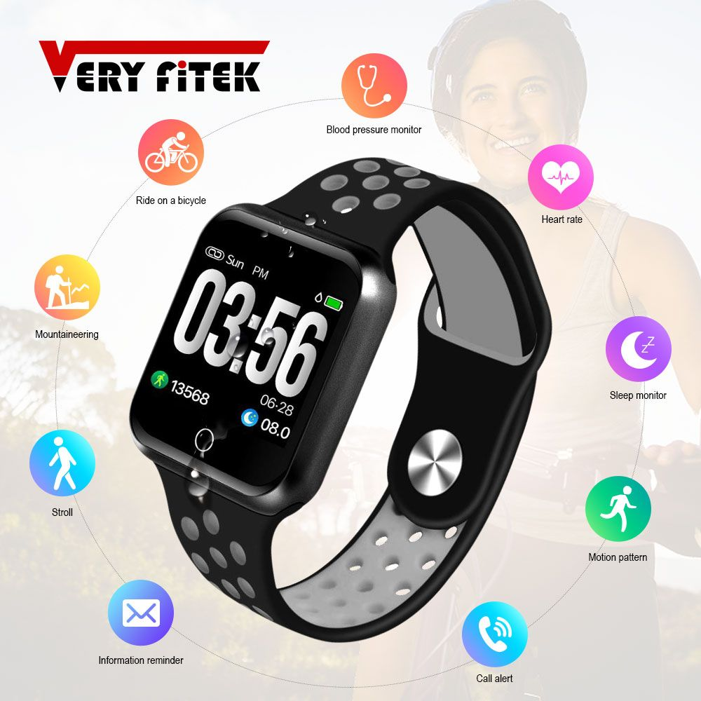 VERYFiTEK S226 Smart Watch Blood Pressure Heart Rate Monitor IP67 Fitness Bracelet Watch Women Men Smartwatch for IOS Android
