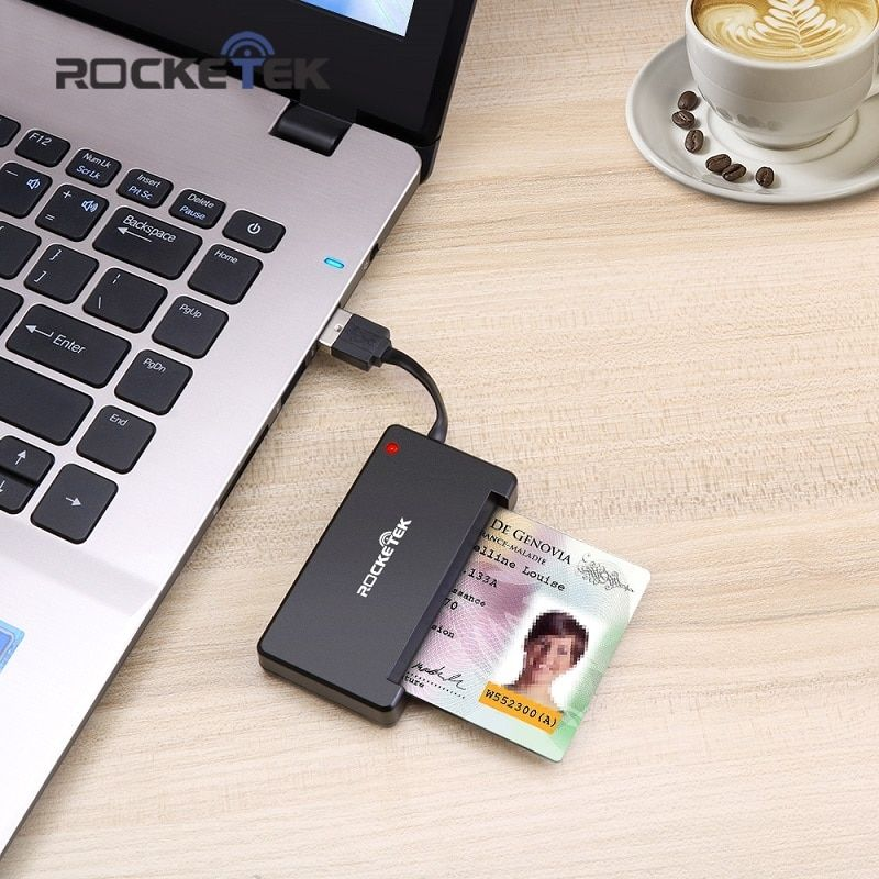 Rocketek USB 2.0 Smart Card Reader CAC ID,Bank card,sim card cloner connector cardreader adapter computer pc laptop accessories