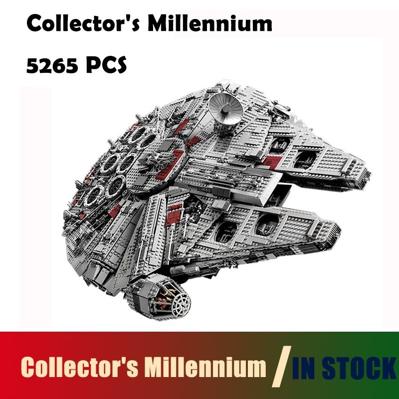 Compatible with lego 05033 Star 5265Pcs Wars Collector's Millennium Model Falcon Building Kit Blocks Bricks Toy Gift 10179