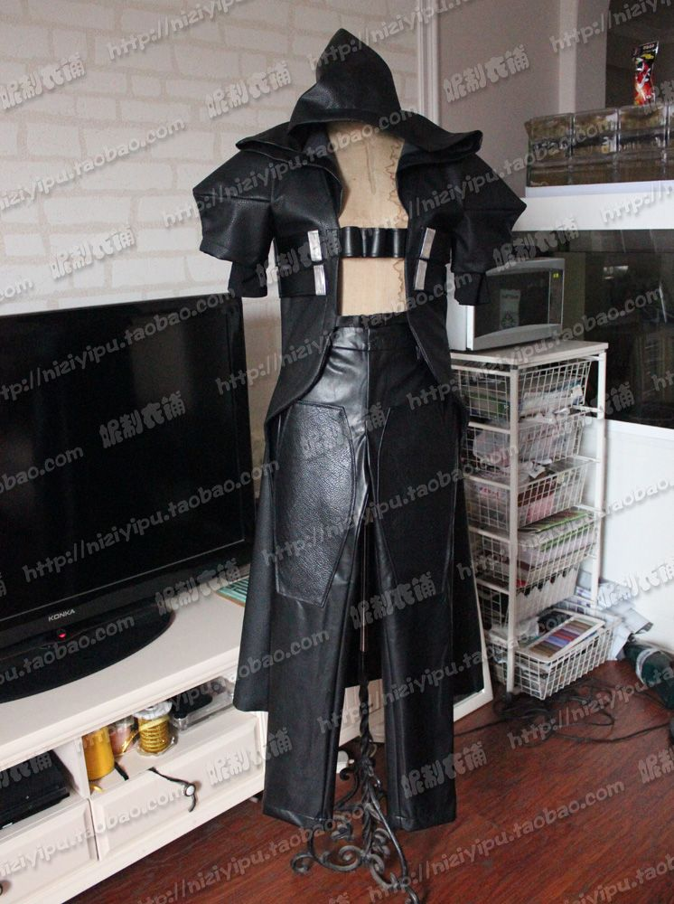Famous Game Die! Reaper Cosplay Costume Halloween Uniform Outfit Cloak+Belt+Pants Custom-made