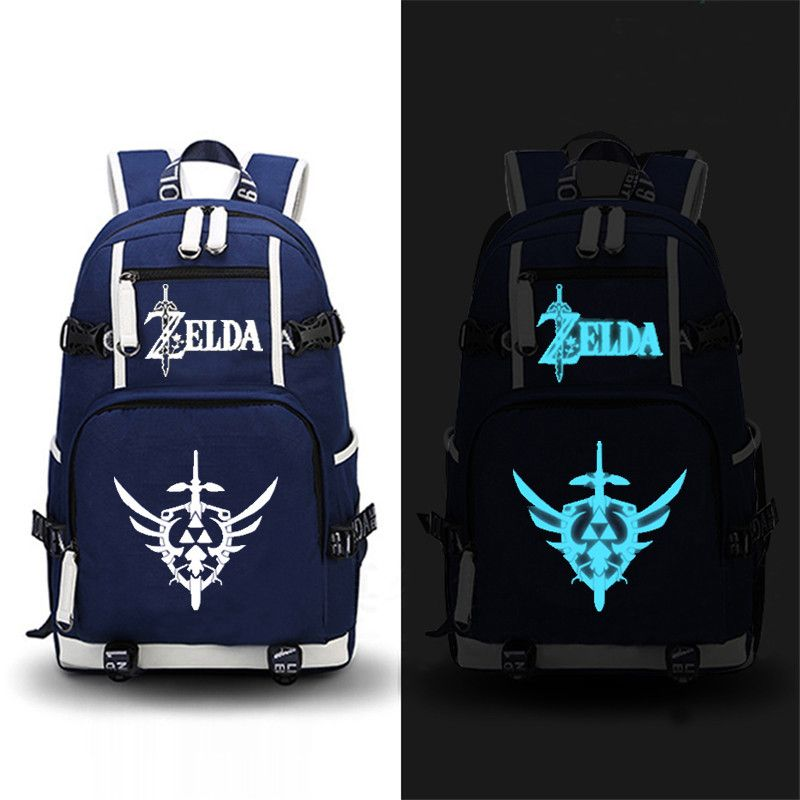 High Quality 2017 Game The Legend of Zelda: Breath of the Wild Printing Zelda Backpack Canvas School Bags Travel Laptop Backpack