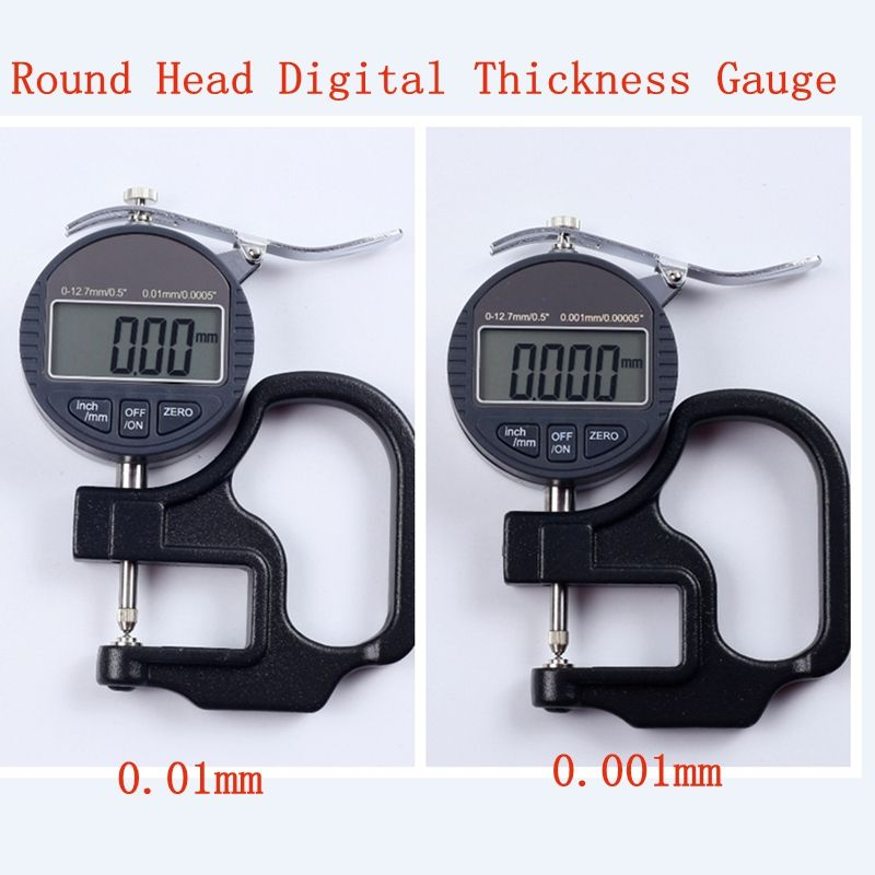 Round Head Electronic Digital Thickness Gauge 0.001mm 0.01 Micron Thickness Indicator Meter Ball Lens Diameter 0-10mm Micrometer