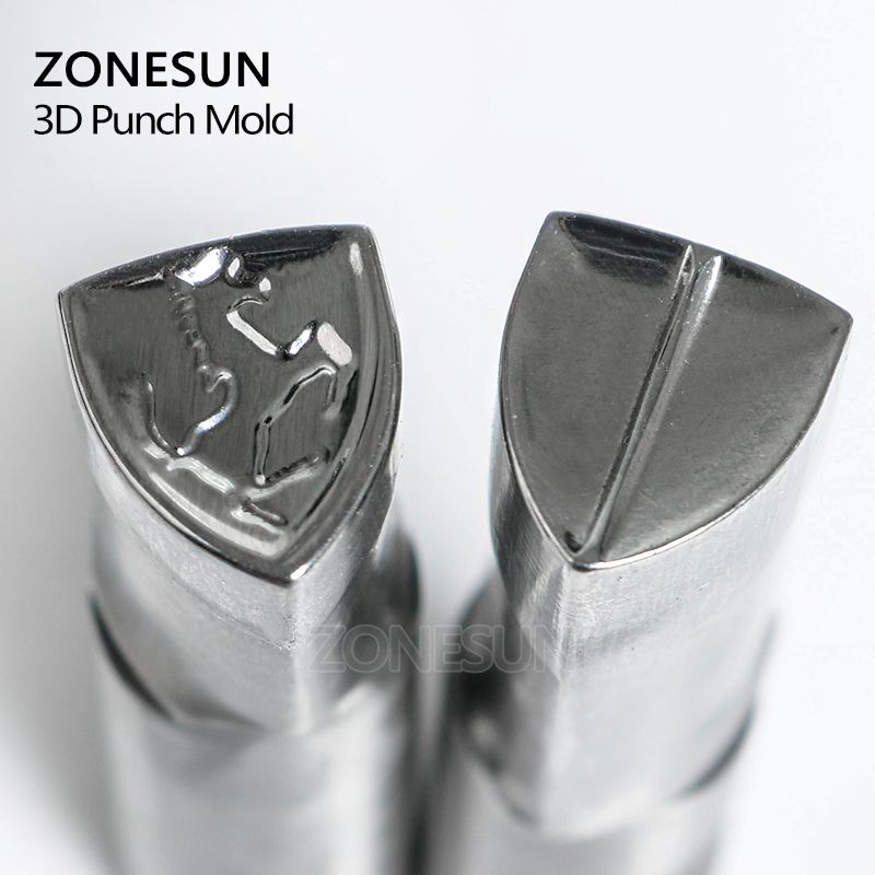 ZONESUN horse logo TDP0/1.5/3/5 Table Pill Press 3D Mold Candy Milk Punching Custom Logo punch die Machine Free shipping