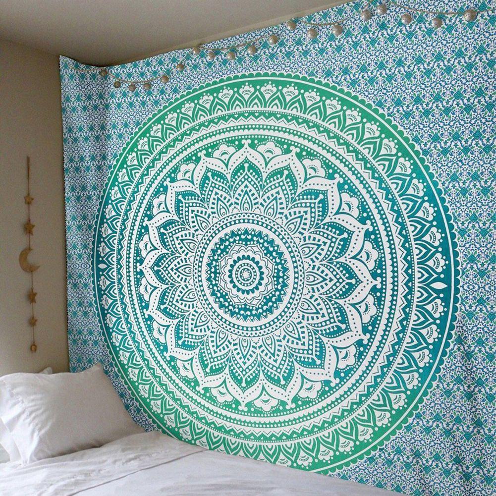 Enipate grand Mandala indien tapisserie tenture murale bohème serviette de plage Polyester mince couverture Yoga châle tapis 210x150 cm couverture