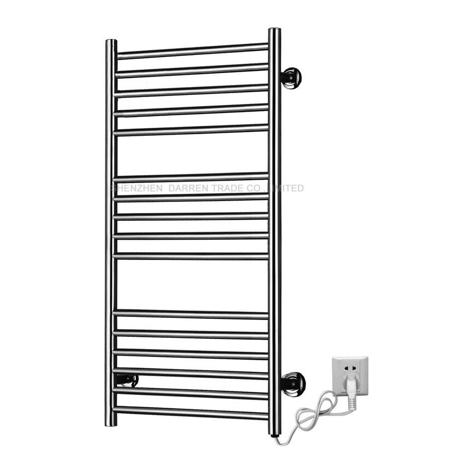 1pcs Heated Towel Rail Holder Bathroom AccessoriesTowel Rack Stainless Steel ElectricTowel Warmer Towel Dryer 120W