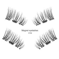 Shozy Pcs/Pair 3D 0.2mm Magnetic Eyelashes Extension Eye Beauty Makeup Accessories Soft Hair Fake Eyelashes False lashes-CT