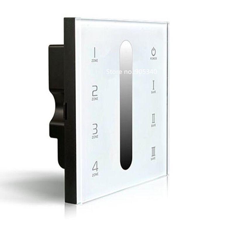 D5 Touch Led Controller led dimmer DMX512 4 Zones control DC12-24V Dimming Touch Panel LED Controller 5 YEAR WARRANTY
