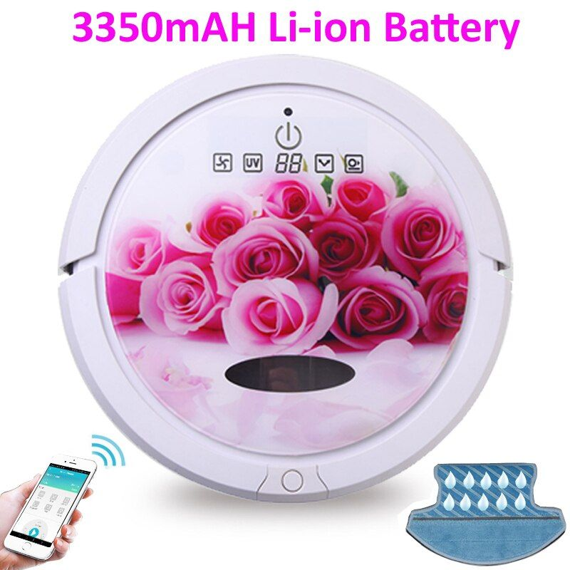 Free shipping and No custom tax For SG,KR, VN,TH BuyerWet And Dry Robot Vacuum Cleaner For Home With WiFi Smartphone App Control