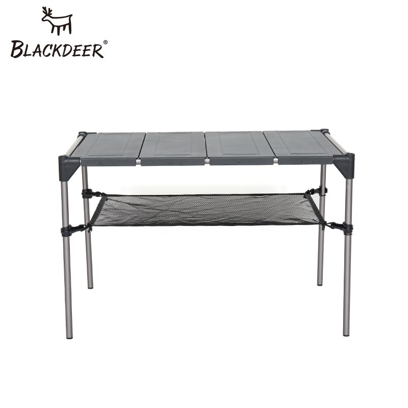 BLACKDEER Outdoor Camping Desk Aluminum Alloy Folding Table Portable Picnic Fishing Beer Table Lightweight Rain-Proof Detachable