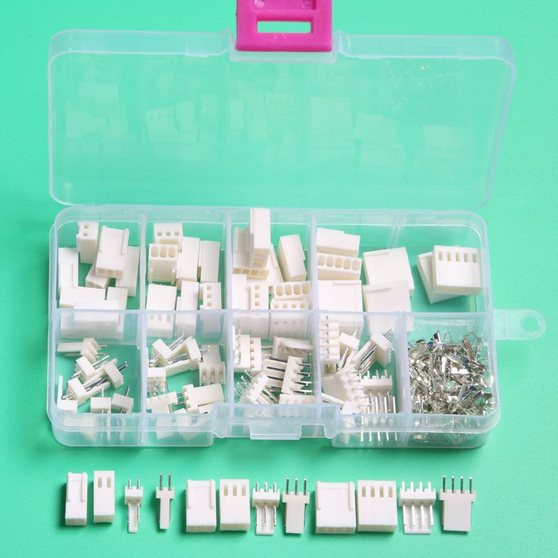 KF2510 Kits 40 sets Kit 2p 3pin 4 pin Pitch electrical automotive connector with box male female 2.54mm car connector terminal