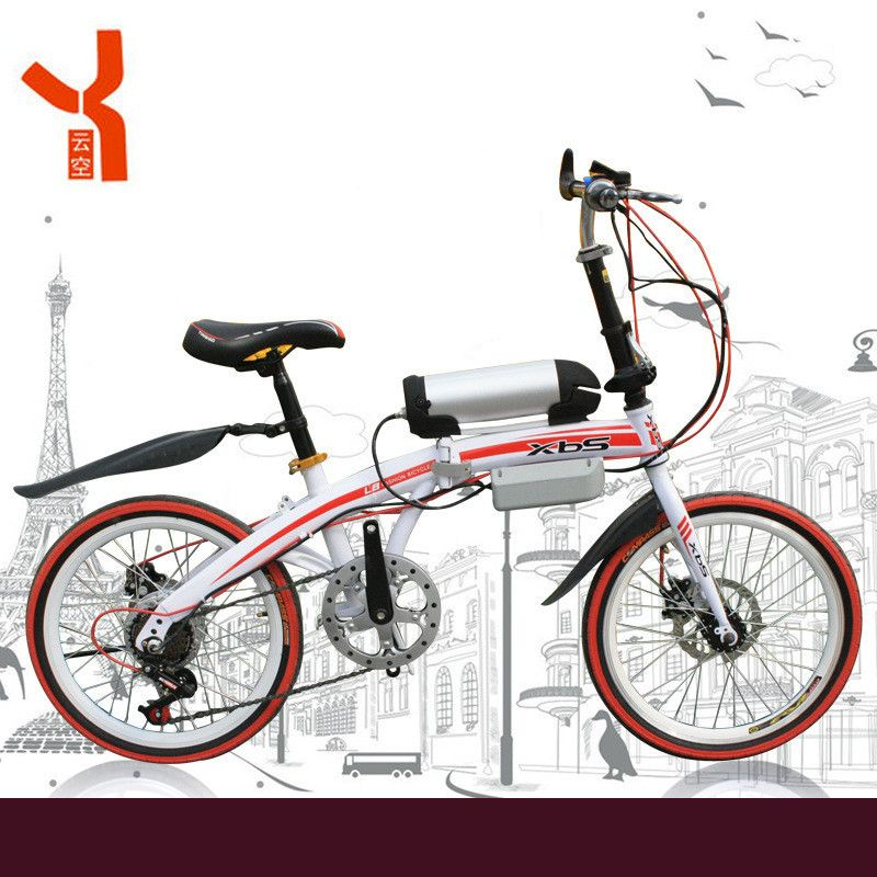 20 inch electric bicycle 36 V 10.8 Ah lithium battery electric mountain bike folding electric bicycle 350 W wholesale.
