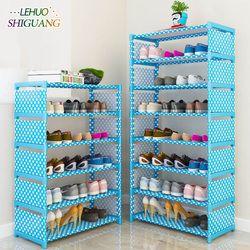 Sederhana Multi Layer Rak Sepatu Bukan Tenunan Mudah Merakit Rak Penyimpanan Sepatu Fashion Rak Buku Perabot Ruang Keluarga