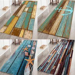New Retro Mandi Dapur Kamar Mandi Shower Lantai Pintu Tikar Karpet Anti-Slip Kayu Jalur vintage