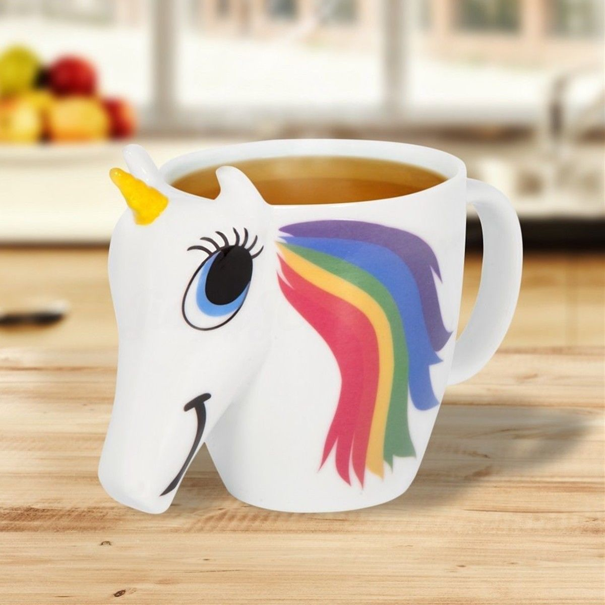 Original 3D Unicorn Color <font><b>Changing</b></font> Ceramic Coffee Tea Mug Multi Colour Cup Gift