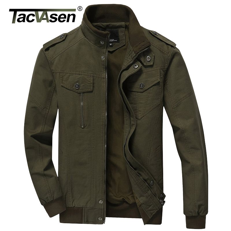 TACVASEN 2017 Men <font><b>Army</b></font> Soldier Jacket Air Force Military jacket Male Plus Size Casual jacket Coats Men's Autumn Coat TD-QZQQ-004