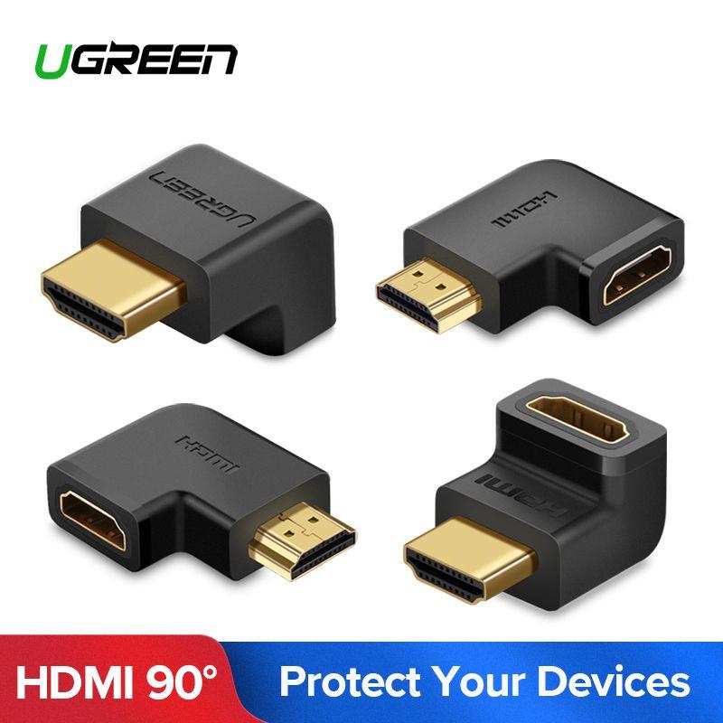 UGREEN HDMI Stecker Männlich zu HDMI Weibliche Adapter 4 K Konverter Extender 270 90 Grad Rechtwinklig für 1080 P HDTV PC HDMI Adapter