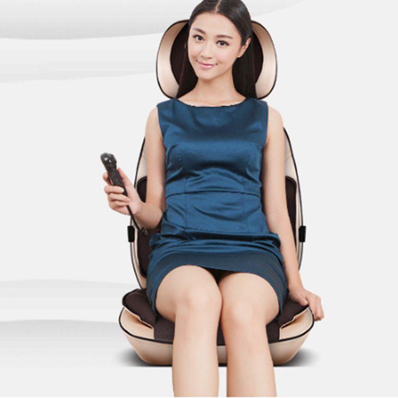 Upgrade Verson multifunktions 6D Elektro Full Body Nackenmassagegerät Shiatsu Ellenbogen Hüften Massage Kneten Zurück Kissen Massage Stuhl